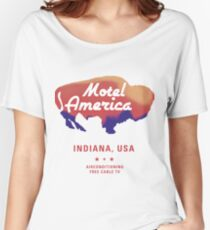 American gods - Motel America  Women's Relaxed Fit T-Shirt