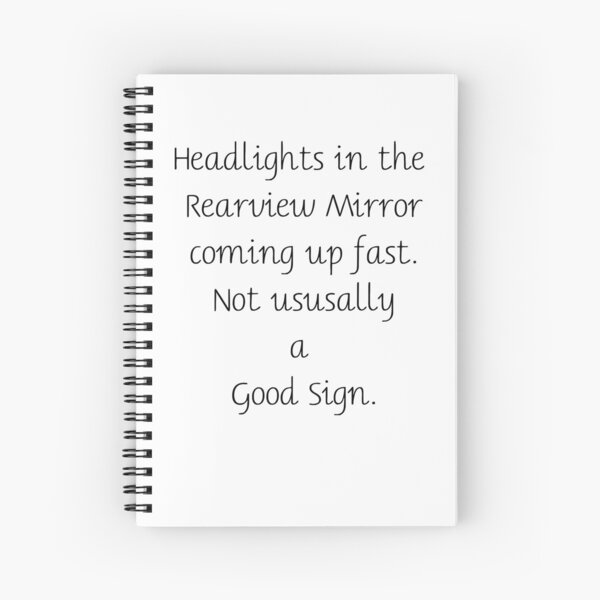 Story Starter: Headlights-Rearview-Sign Spiral Notebook