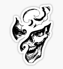 Carved Laughing Gothic Skull Graphic T-shirt Collections Sticker