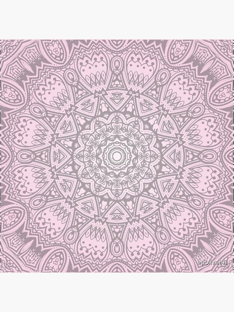 Pink Mandala Art by epoliveira