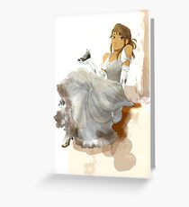 Ball Gown Cinder Greeting Card