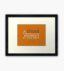 Enemies Framed Print