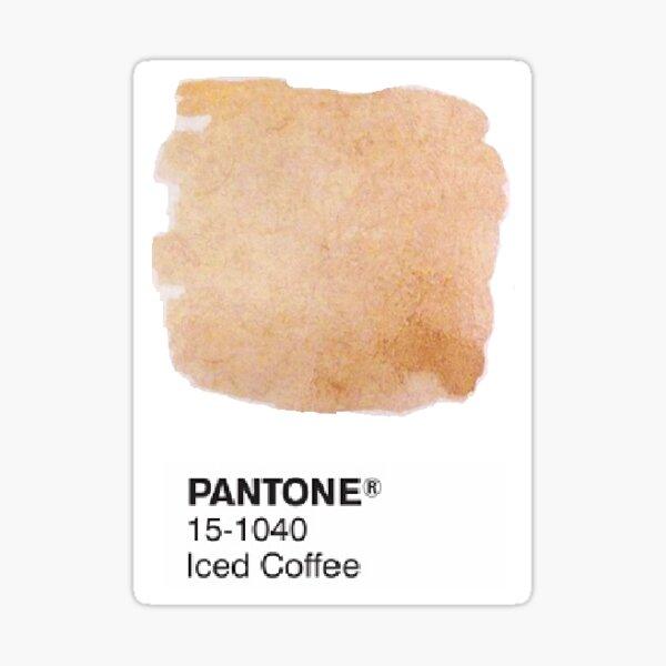 Kaffee Aquarell Pantone Aufkleber Sticker