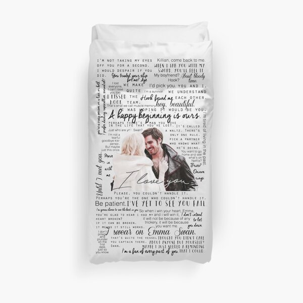 57. CaptainSwan quotes (JEN HAS HELD ONE OF THESE CASES AT A CON) Duvet Cover