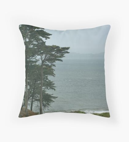 Above Baker Beach Throw Pillow