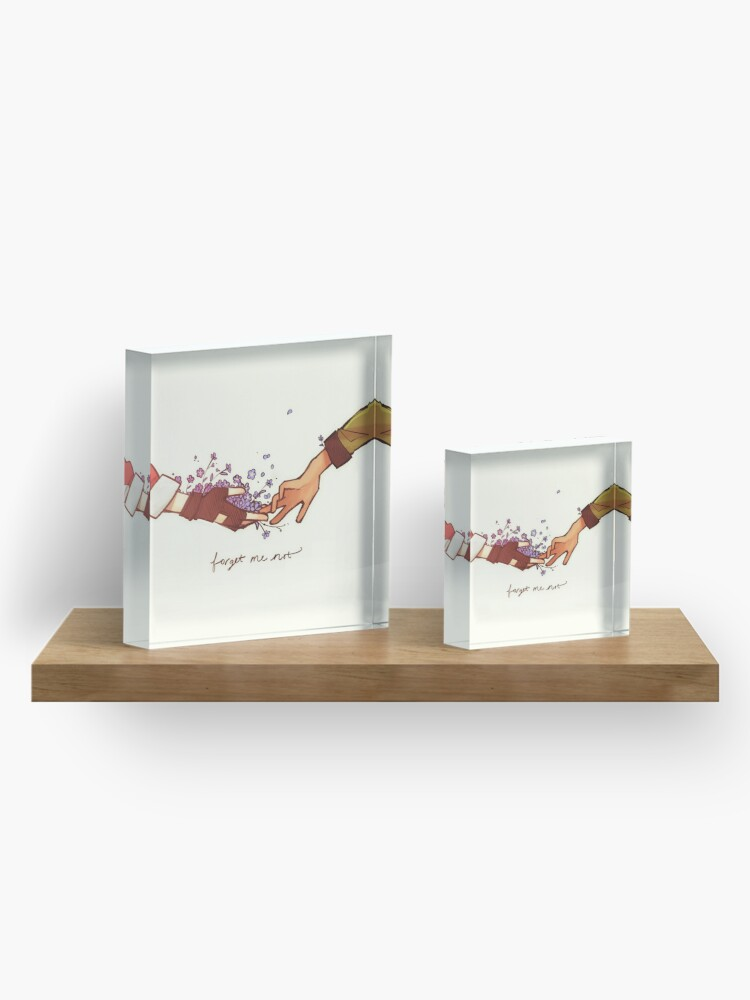 Alternate view of Forget Me Not Acrylic Block