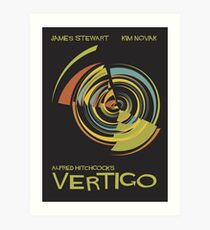 Vertigo Nod to Saul Bass Art Print