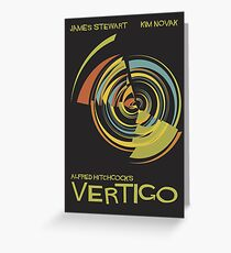 Vertigo Nod to Saul Bass Greeting Card