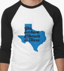 Liberal Texas - blue Men's Baseball ¾ T-Shirt