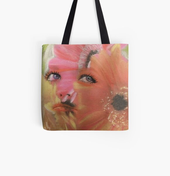 Flower Child Flower Fashion Art All Over Print Tote Bag