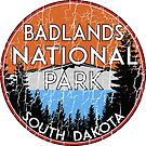 BADLANDS NATIONAL PARK SOUTH DAKOTA VINTAGE MOUNTAINS HIKING CAMPING HIKE CAMP  by MyHandmadeSigns