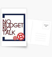 No Budget - No Talk Postcards