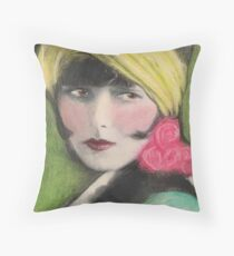 Louise Brooks 1920s Hollywood Flapper Celebrity Throw Pillow