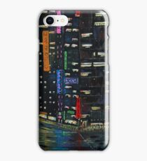 Cyberpunk City Painting iPhone Case/Skin