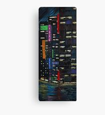 Cyberpunk City Painting Canvas Print