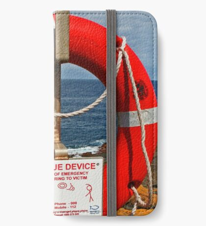 Lebensretter iPhone Flip-Case