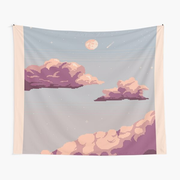 Pastel clouds and night sky Tapestry