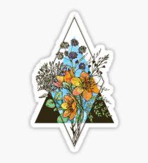 Geometrischer Blumenstrauß Sticker