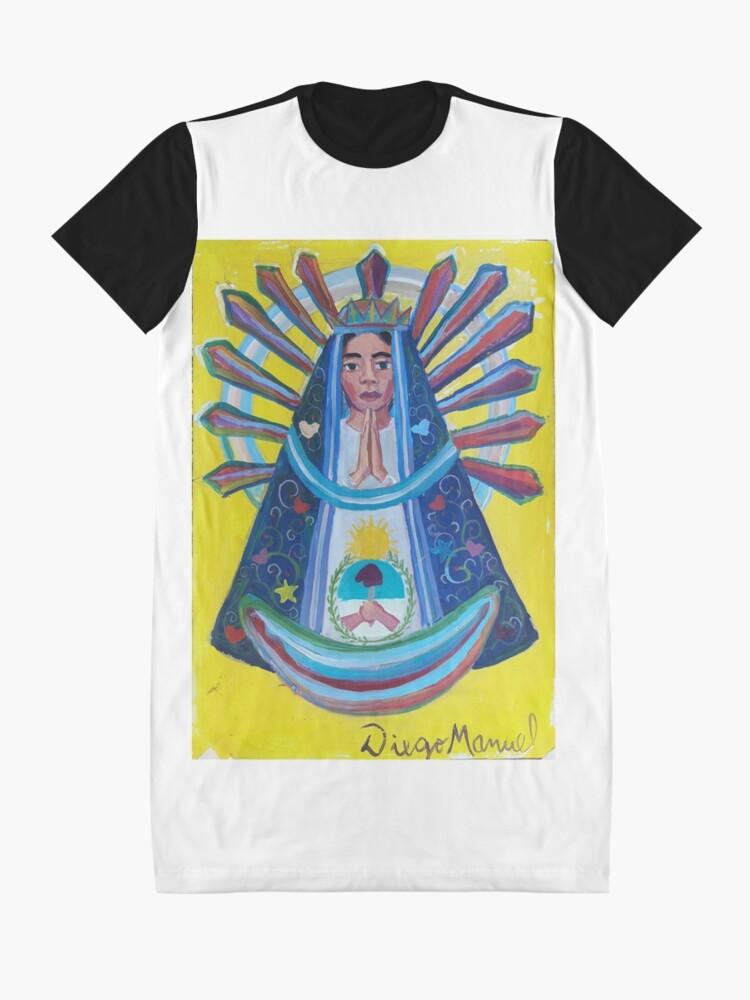 Alternate view of Virgin of Lujan (1B) Graphic T-Shirt Dress