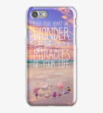 Keep Your Heart In Wonder iPhone Case/Skin