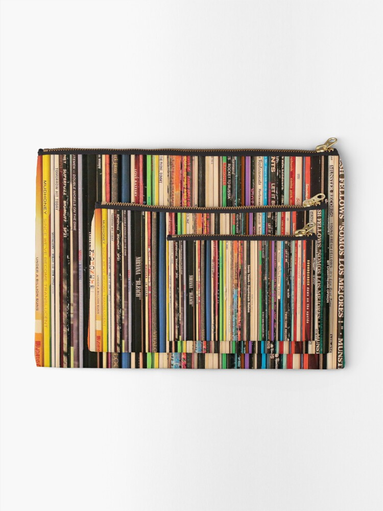 Alternate view of Classic Alternative Rock Records Zipper Pouch