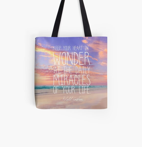 Keep Your Heart In Wonder All Over Print Tote Bag