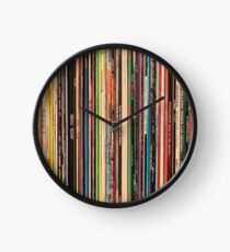 Classic Alternative Rock Records Clock