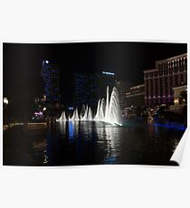 The Midnight Show - Bellagio and Cosmopolitan Plus the Famous Fountains Poster