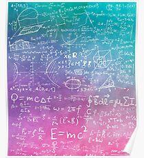 Math Formula Equation Watercolor Poster