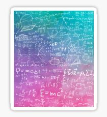 Math Formula Equation Watercolor Sticker