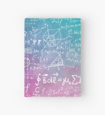 Math Formula Equation Watercolor Hardcover Journal