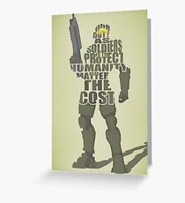 Master Chief - Our Duty Greeting Card