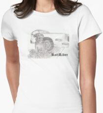 RottRider!  Rottweiller with his C-ride! Women's Fitted T-Shirt