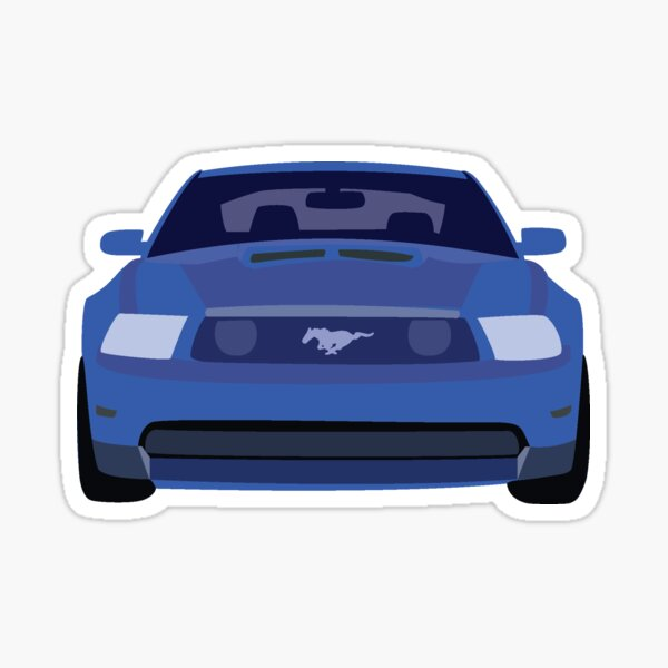 blue mustang stickers redbubble