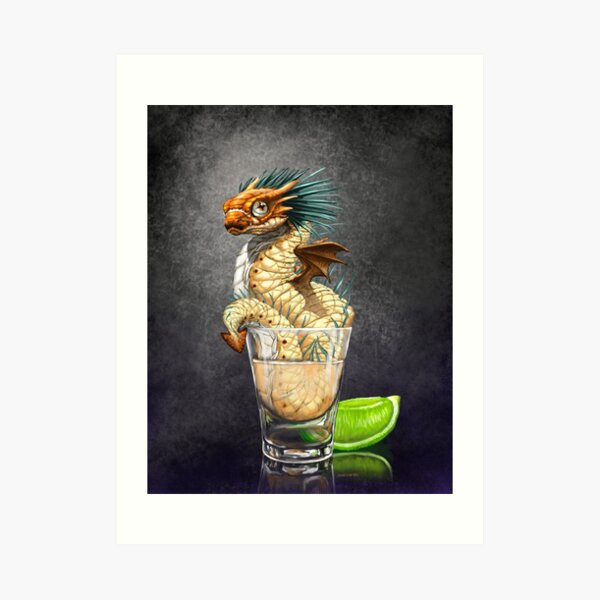 Tequila Dragon Art Print