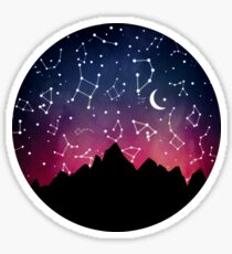 A Stargazing Sunset Sticker