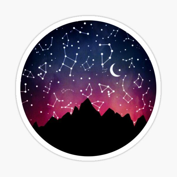 A Stargazing Sunset Sticker