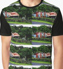 Old Cottages, Hill End Graphic T-Shirt