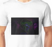 Major Kusanagi from Ghost in the Shell rendered in neon Unisex T-Shirt