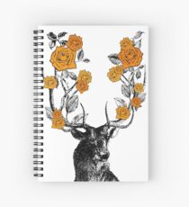 The Stag and Roses Spiral Notebook