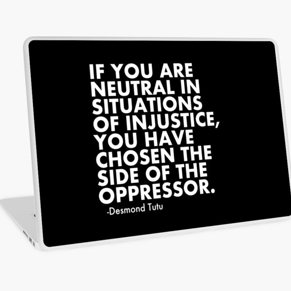 Human Rights Quote Protest Political  Laptop Skin
