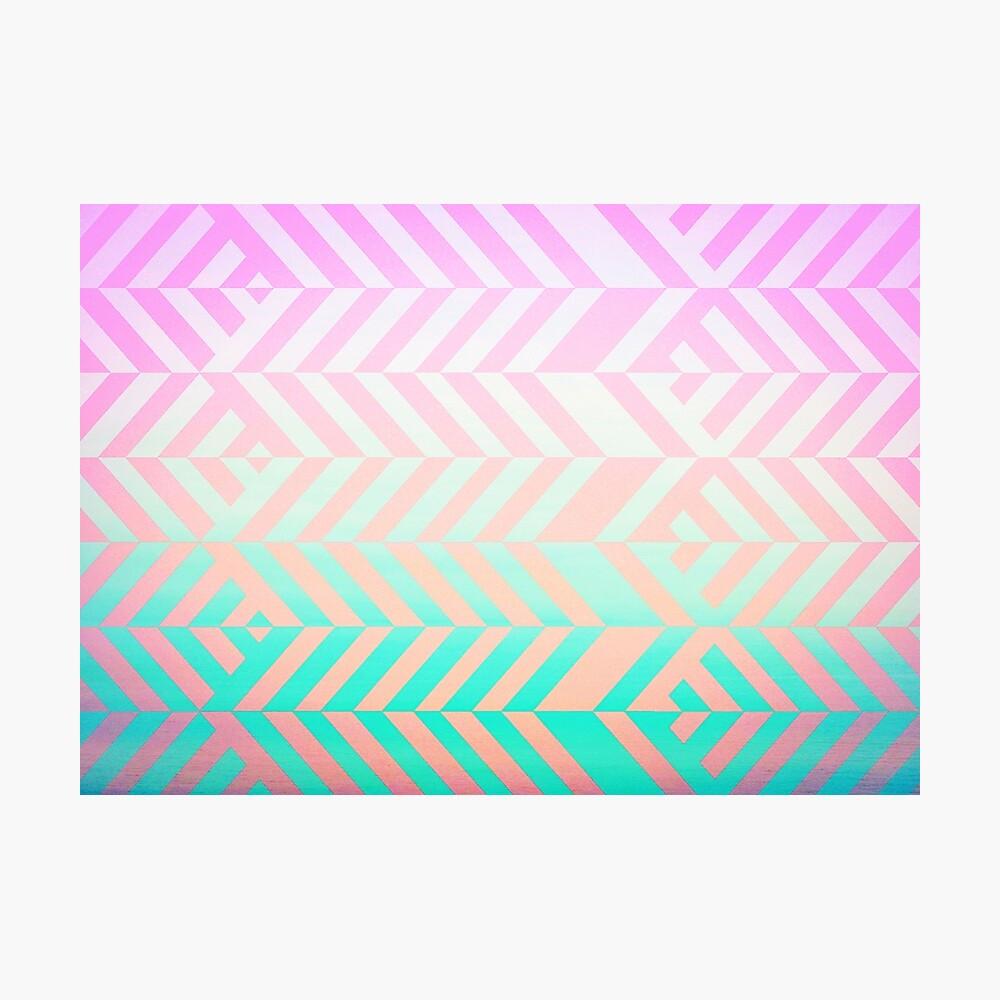Chevron pattern Photographic Print