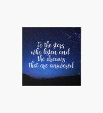 Stars Who Listen Art Board