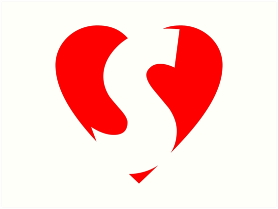I Love S Heart S Heart With Letter S Art Prints By