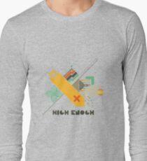 High Enough Retro art Long Sleeve T-Shirt