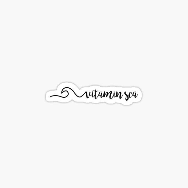 Vitamin Sea Waves Quote Sticker