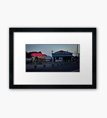 Vaporwave Car Wash @ Night Framed Print