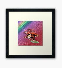 Funky kong Framed Print
