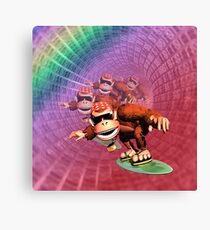 Funky kong Canvas Print