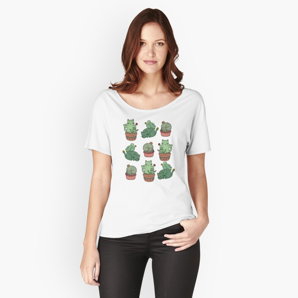 Cactus Cats Relaxed Fit T-Shirt